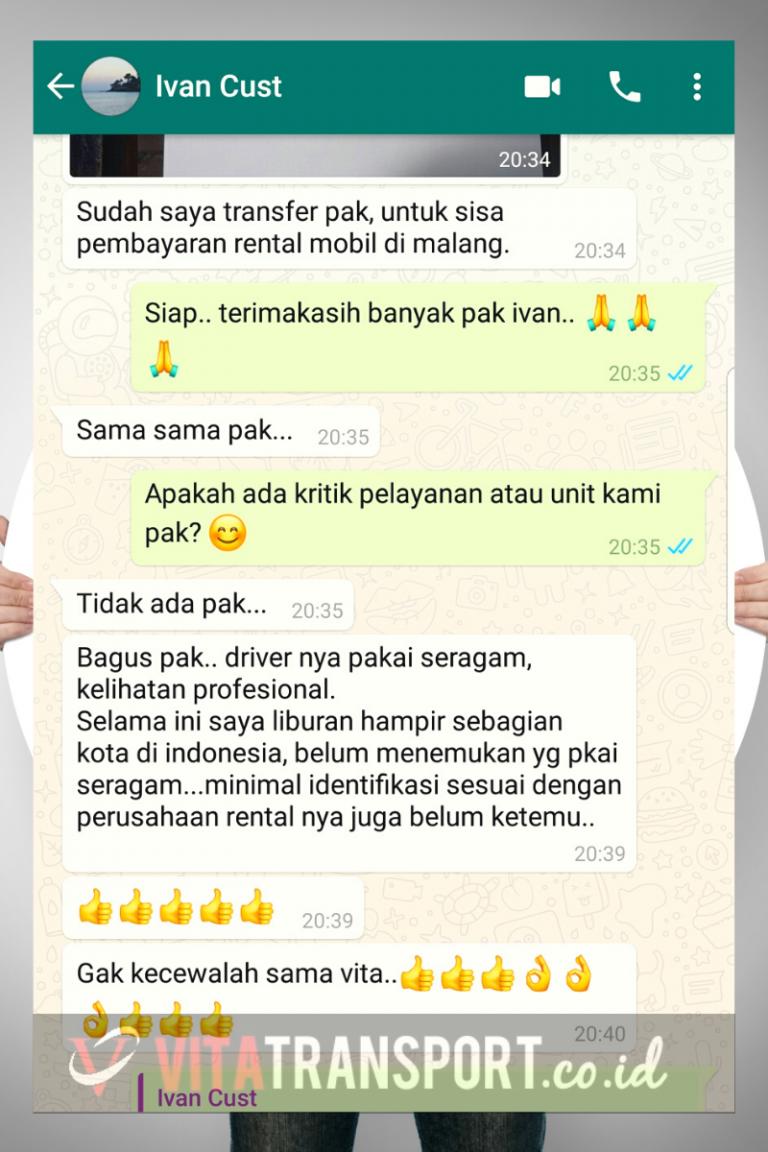 Testimoni Sewa Hiace Malang Vita Transport 1